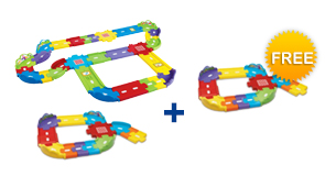 Buy the Deluxe Track Set and Junior Track Set, receive a FREE Extra Junior Track Set