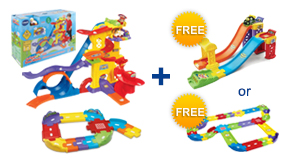 Buy the Ultimate Amazement Park Playset and Junior Trackset, receive $10 off and a FREE Gift of your choice