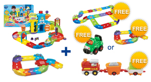 Buy the Police Station Playset and Junior Track Set, receive a FREE Gift of your choice!