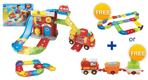 Buy the Fire Command Rescue Center and Junior Track Set, receive a FREE Gift of your choice!