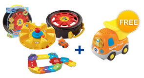 Buy the Launch & Go Storage Case and Junior Track Set, receive a FREE Vehicle of your choice!