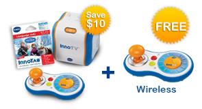 Buy an InnoTV and Learning Software, receive $10 off and a FREE Wireless Controller