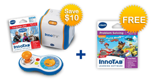 Buy an InnoTV and Learning Software, receive $10 off and a FREE Extra Learning Software