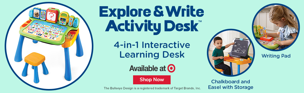 Check out the Explore & Write Activity Desk at Target