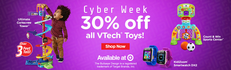 Cyber Week: 30% off all VTech Toys - Shop Now