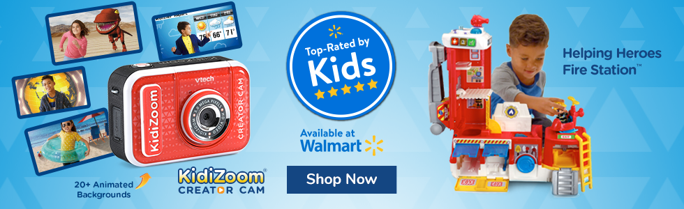 Top rated by Walmart - Creator Cam and Fire Truck