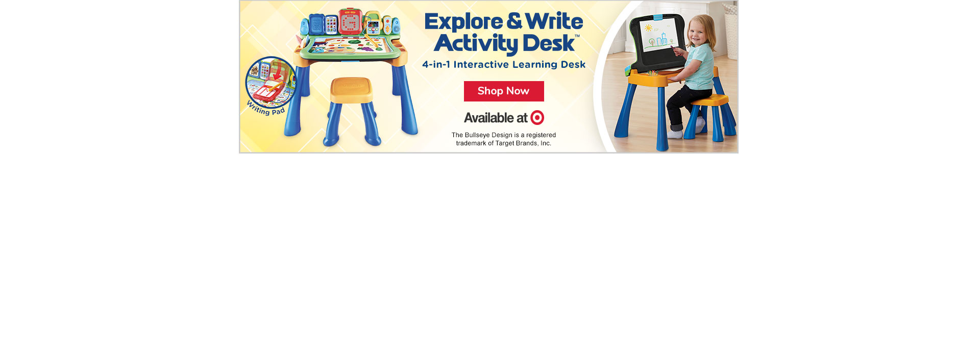 Check out the Explore & Write Activity Desk - Available at Target