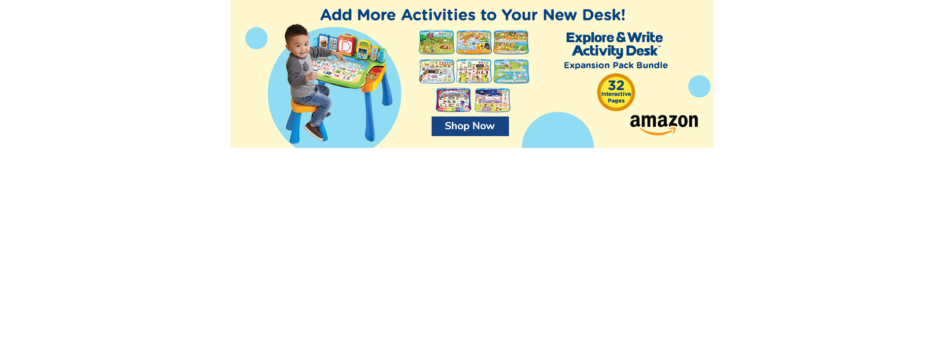Add Expansion Packs to your new learning desk