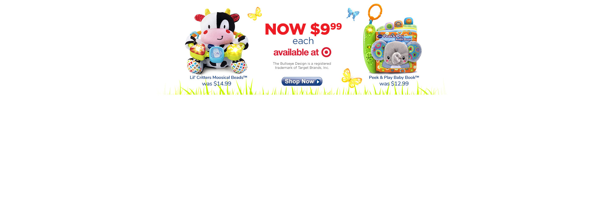 Sale $9.99 -  80-166000  Lil Critters Moosical Beads & 80-189300  Peek & Play Baby Book