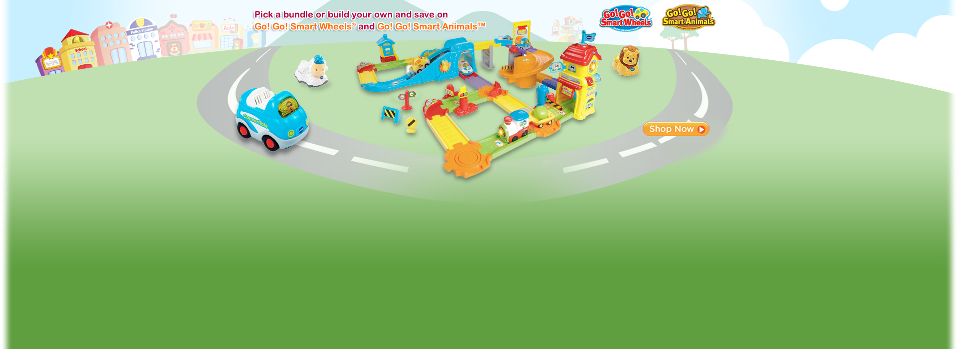 Pick a bundle or build your own and save on Go! Go! Smart Wheels® and Go! Go! Smart Animals™