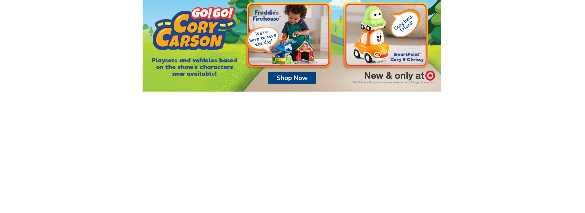 Go! Go! Cory Carson Playsets and Character Vehicles New And only at Target