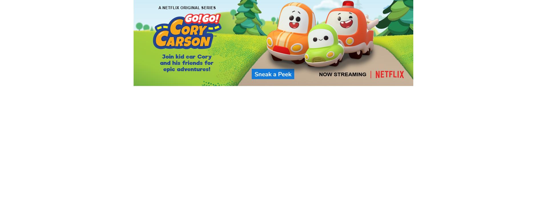 Now Streaming! The new Go! Go! Cory Carson Netflix Original Series