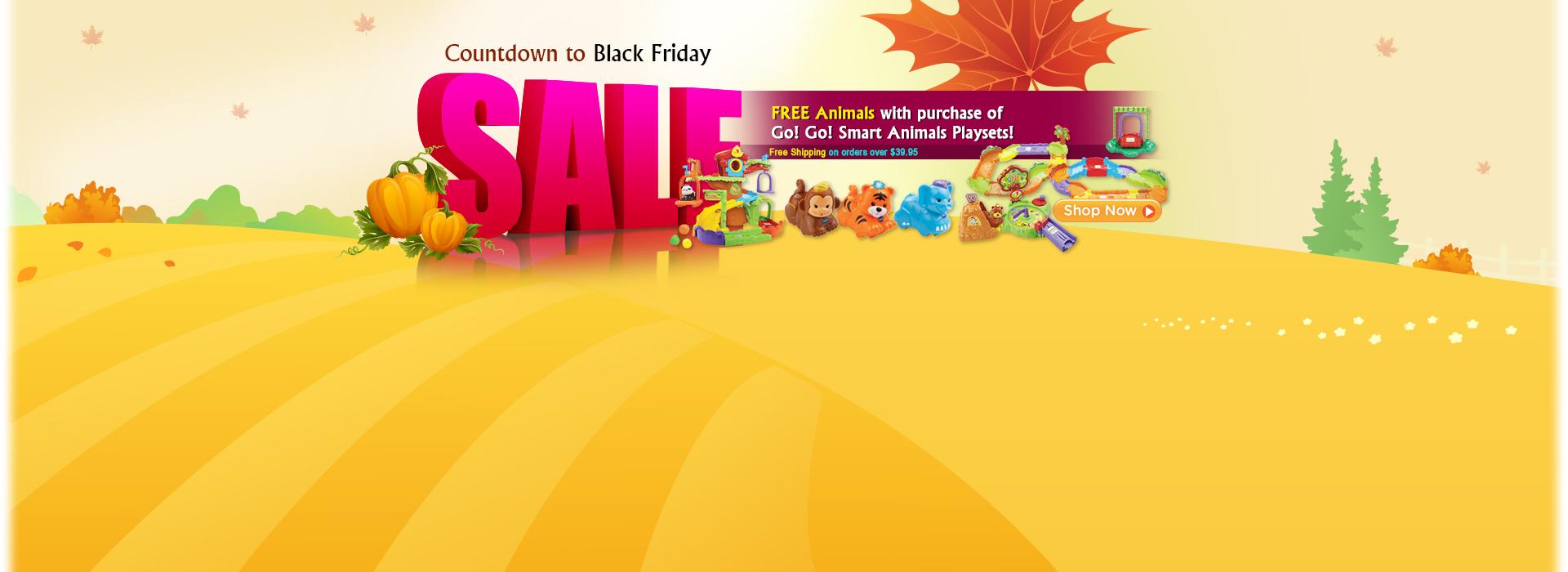 Countdown to Black Friday Sale - Go! Go! Smart Animals Deals