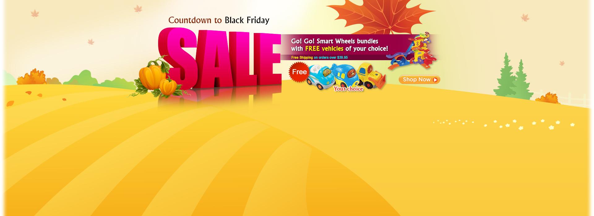 Countdown to Black Friday Sale - Go! Go! Smart Wheels Deals