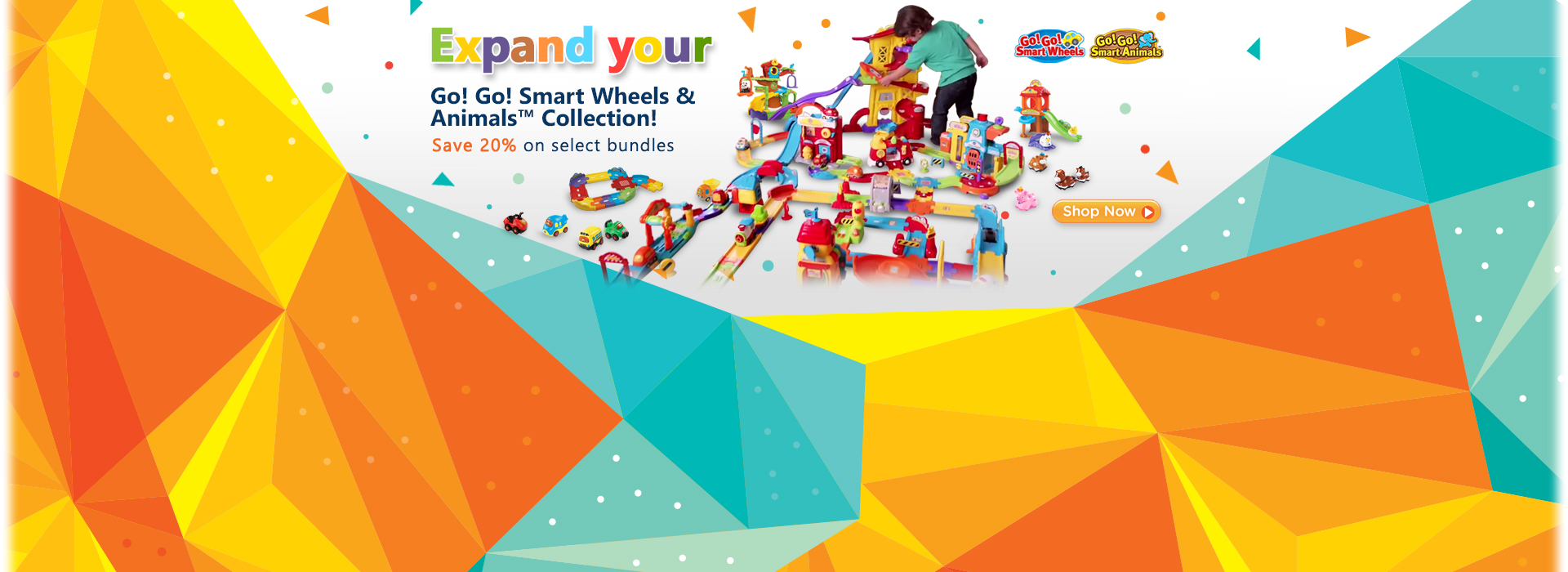 Expand your Go! Go! Smart Wheels & Animals Collection! Save 20% on select bundles