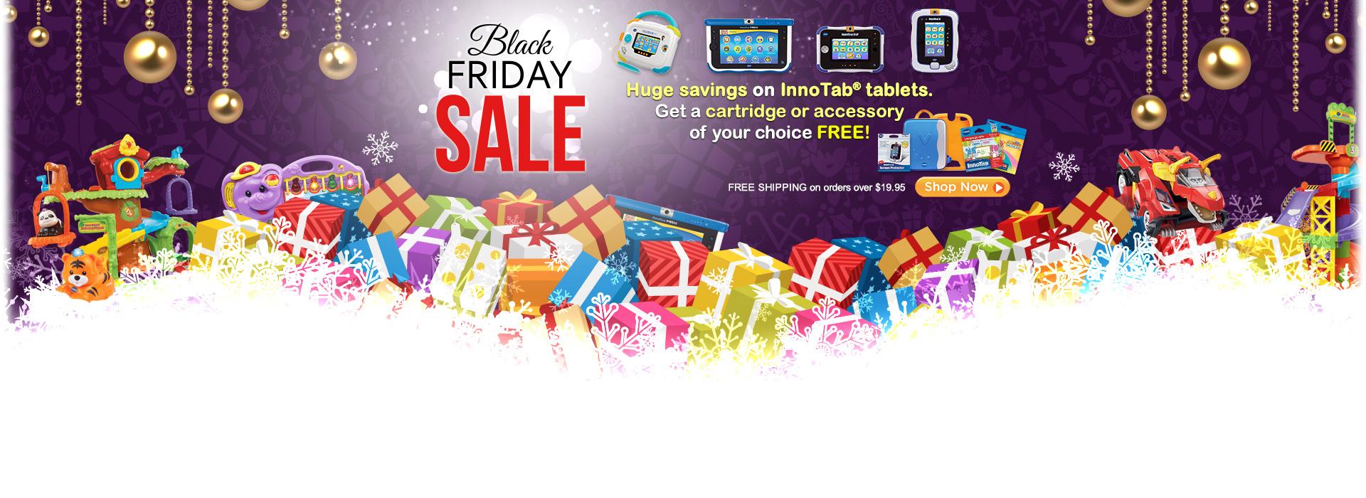 Black Friday Sale - Hung savings on InnoTab tablets.