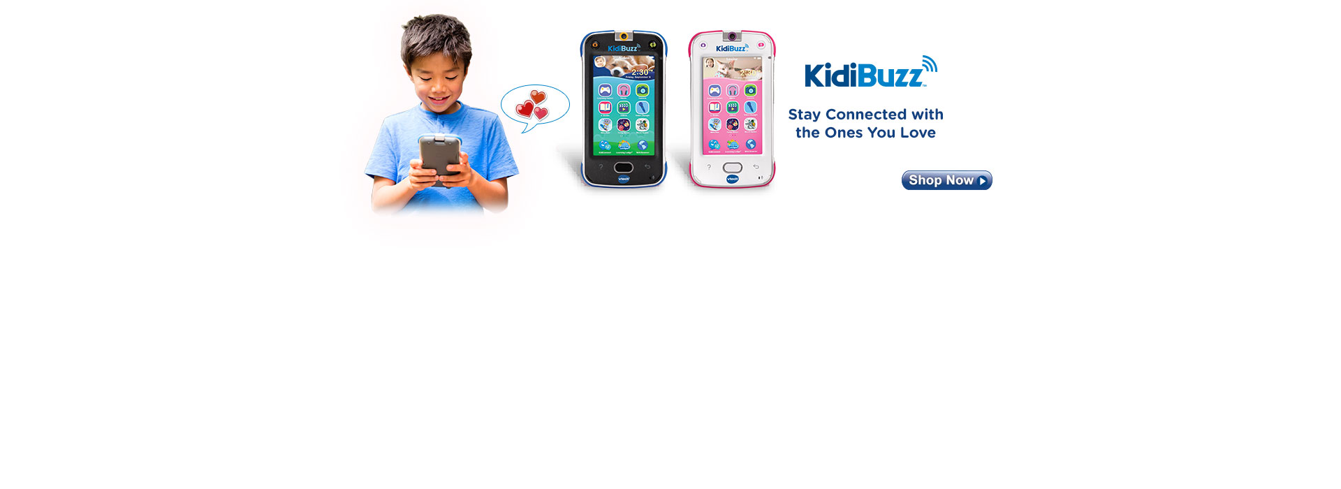 Connect, share and play with KidiBuzz, available in 2 colors! Shop now