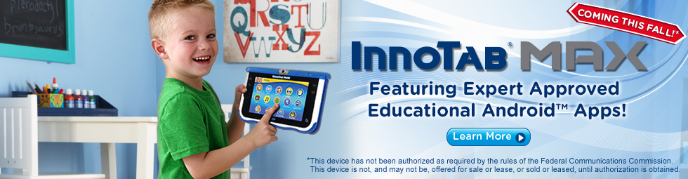 InnoTab Max Learning Tablet - Featuring Expert Approved Educational Android Apps!