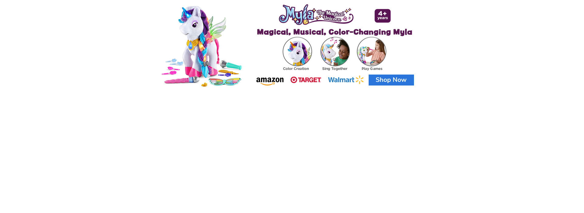 Light up every day with Myla the Magical Unicorn