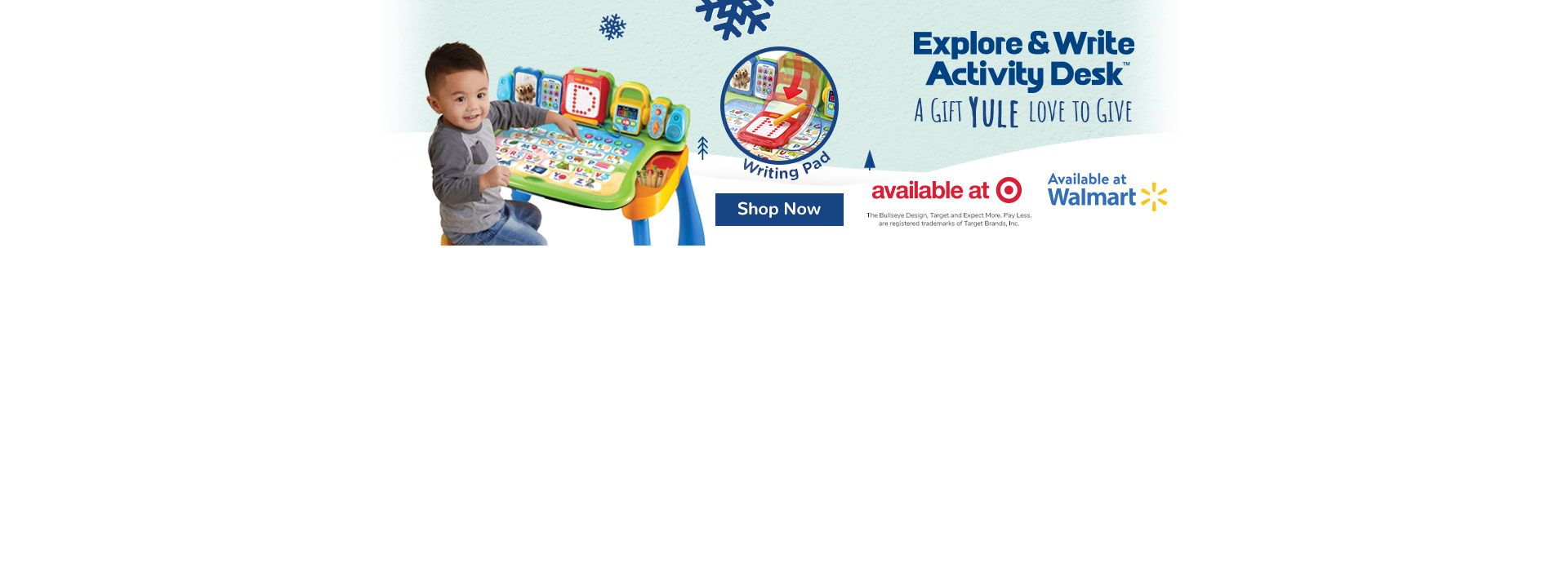 Check out the Explore & Write Activity Desk - Available at Target & Walmart