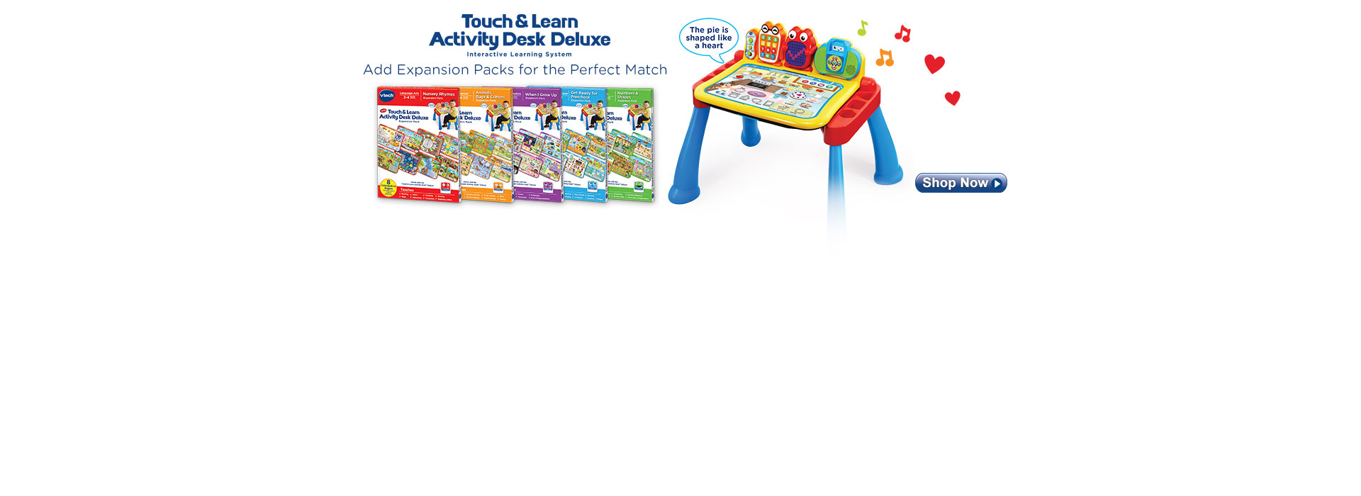 Expand your Touch & Learn Activity Desk with new Expansion Packs