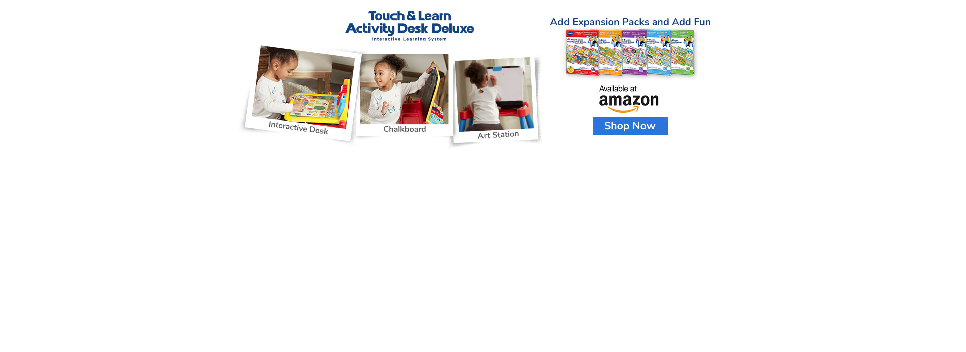 Touch & Learn Activity Desk Deluxe & Books - Buy now at Amazon