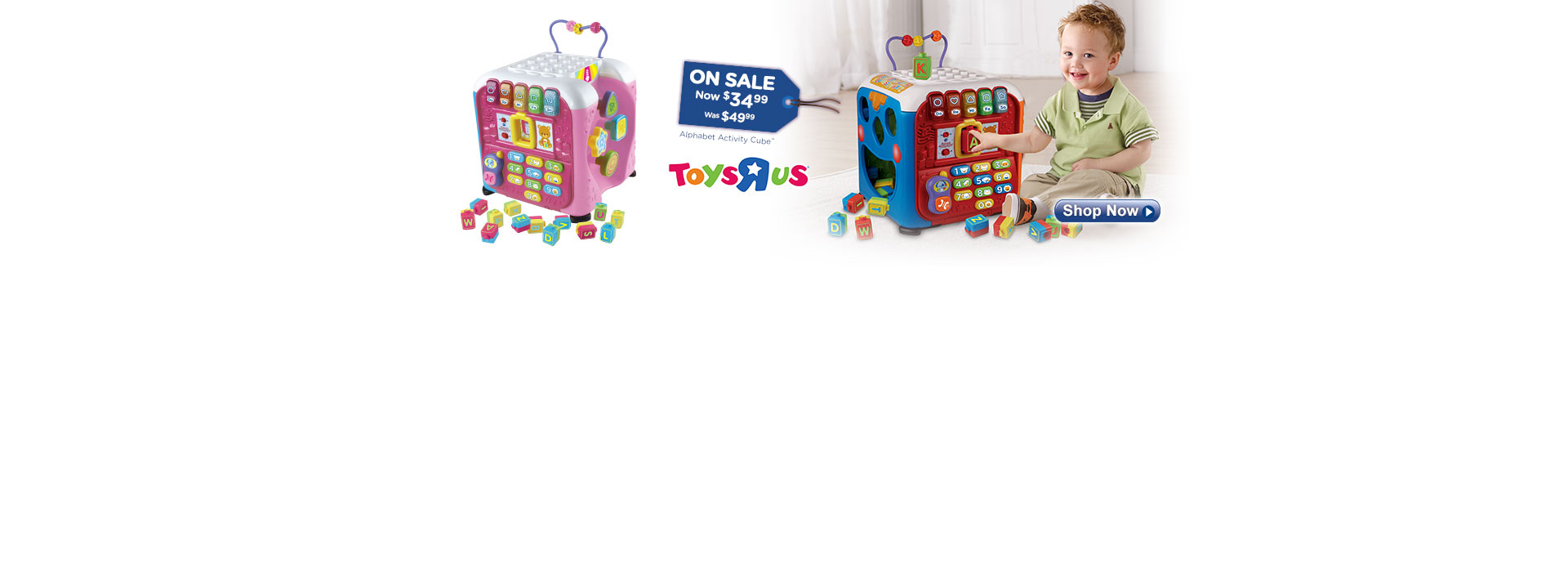 Alphabet Activity Cube (Both Colors) on sale for $34.99 at