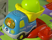 "Includes one SmartPoint™ Dump Truck that teaches the letter ""D"" and more through pretend play"