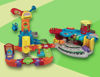 16 track pieces can be reconfigured or connected to other Go! Go! Smart Wheels playsets (sold separately) promoting creative play