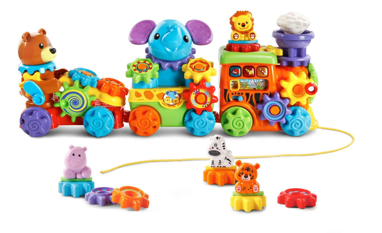 Animal Train Set : Gearzooz™ roll roar animal train™ vtech