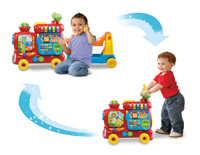 Can be used as a floor play toy and transforms from a ride-on to a walker