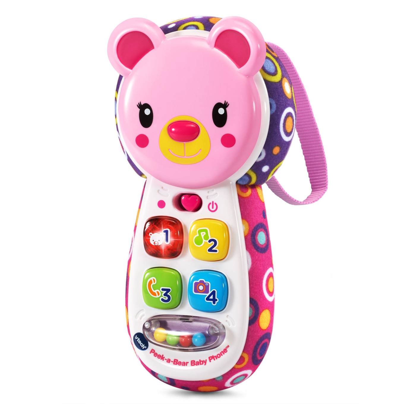 peek a bear baby phone pink vtech. Black Bedroom Furniture Sets. Home Design Ideas