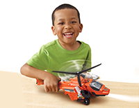 Plays real flying sounds as your child moves Blister through the air