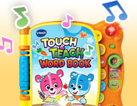 Make reading an even more interactive experience with pages that react to your child's touch with sounds, words and music