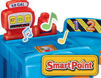 5 SmartPoint® locations trigger fun sounds, music, and phrases