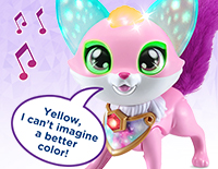 Interact with Ava Explore colors and hear about her moods and feelings with more than 100 magical responses. Touch Ava's mouth to sing a colorful duet with her.