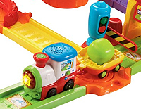 Includes one SmartPoint™ motorized train that responds to 10 SmartPoint™ locations with educational phrases, fun sound effects and music