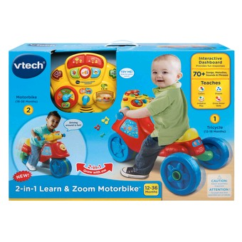 2 In 1 Learn Zoom Motorbike Tricycle Bike Vtech