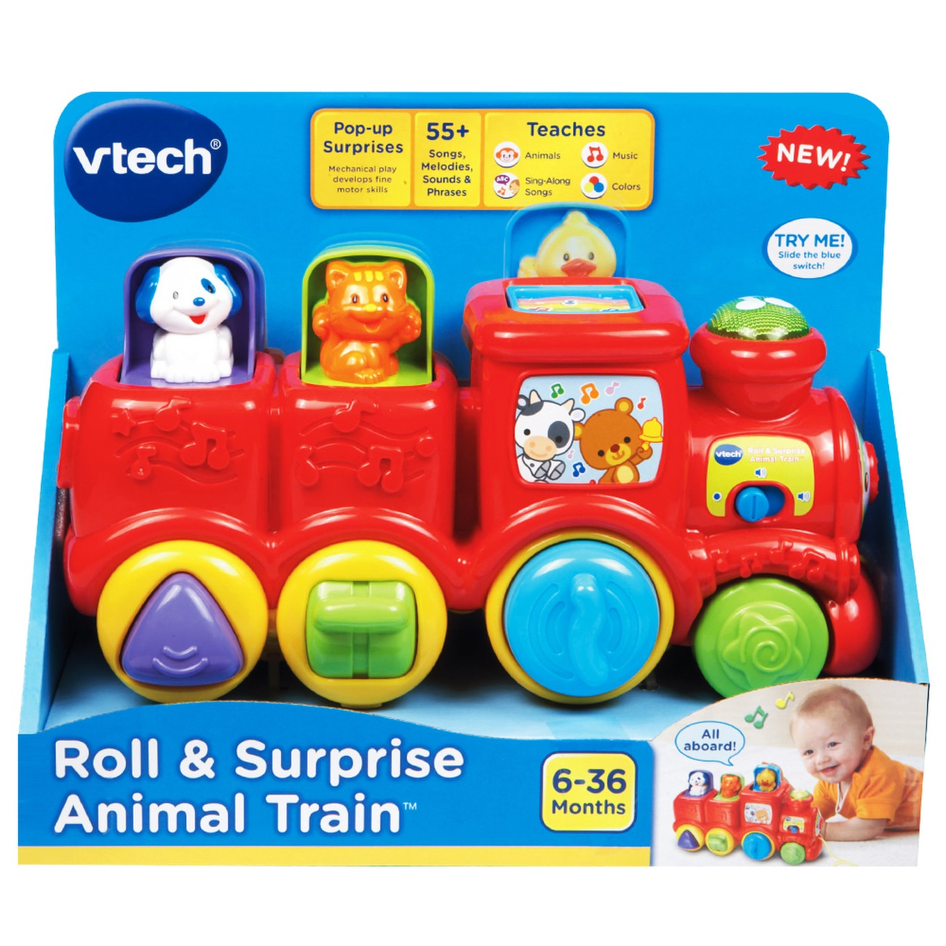 Roll & Surprise Animal Train