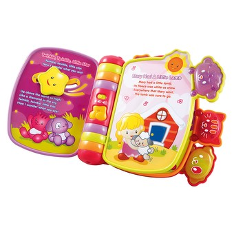 vtech rhyme and discover book pink
