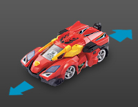 Move forward, backward, left and right using the remote control in vehicle and dino mode