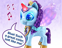 Interact with Riley Explore colors and hear about her moods and feelings with more than 100 magical responses. Touch Riley's mouth to sing a colorful duet with her.