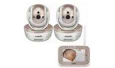 VM343-2 - Video Baby Monitor with Two Cameras, Night Vision, Pan/Tilt/Zoom and Two-Way Audio