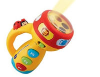 Toy flashlight features exciting songs and music