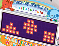 Light-up display shows fun animation ensure hours of learning fun