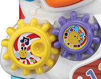 Easily attach to shape buttons, making learning shapes a snap. Twist and spin the gears to enhance fine motor skills.