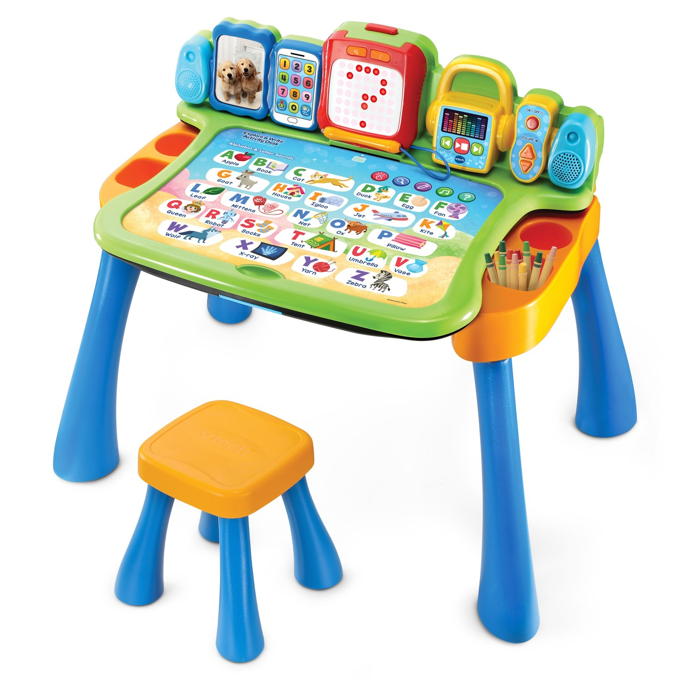 VTech Touch and Learn Activity Desk│Kid/'s Smart Educating Pad│LED Display│2-5Yrs