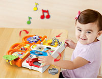 Twist, Slide & Lift Move the latches, switches, key, door and window to build motor skills and learn about family members, animals, objects and more.