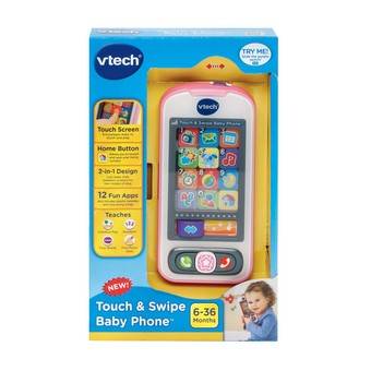 Touch & Swipe Baby Phone - Pink