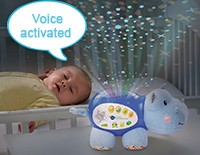 Voice activated to respond to your baby's cry